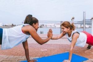 treinar com um amigo