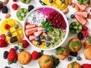 Prato com Alimentação Fitness